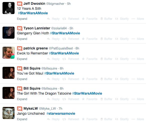 #StarWarsAMovie, Part 1 (Twitter & Lucasfilm)