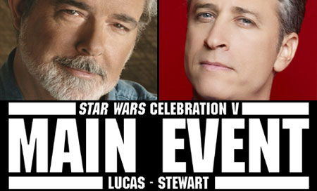 George Lucas and Jon Stewart (Sandwich Film Productions)