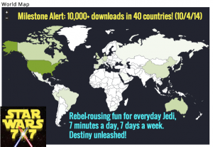 10,000 Downloads in 40 Countries!